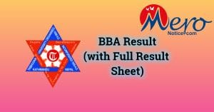 BBA result : Tribhuvan University (With full result-sheet)
