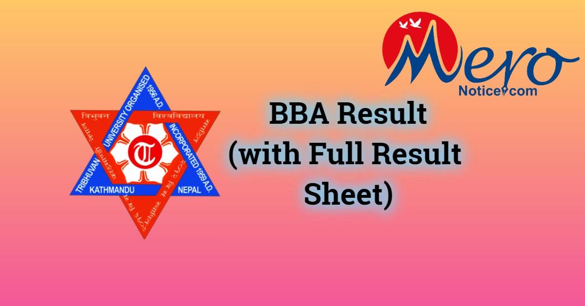 BBA result : Tribhuvan University (With full result-sheet)