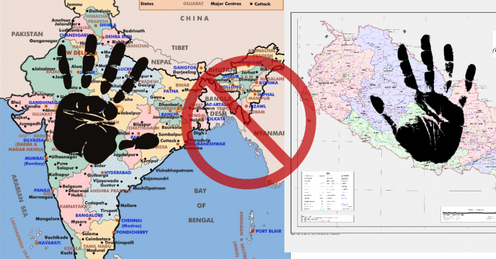Map war between India and Nepal