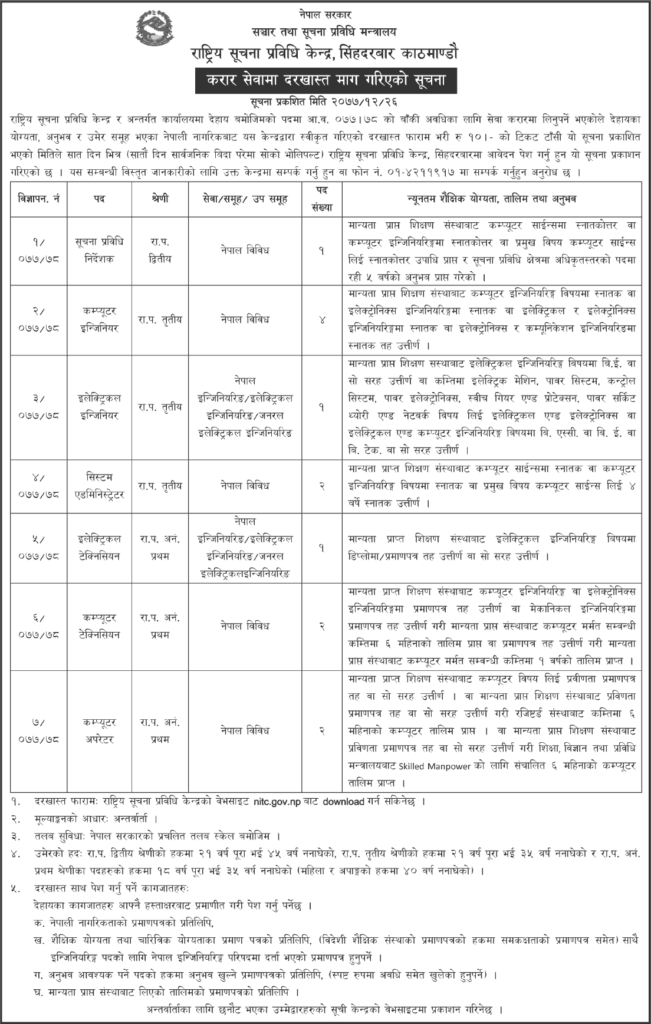 National-Information-Technology-Center-(NITC)-Vacancy-for-Various-Positions